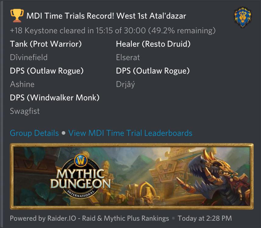 Raider IO Discord Alerts - WoW Raid & Mythic+ Rankings | Raider IO
